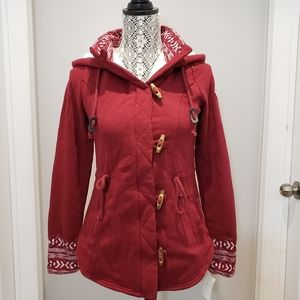 Hollister Zip-Up Maroon Sweater or Jacket, Size S